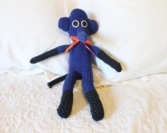 Handmade Sock Animal - Sock Elephant - Stuffed Elephant - Stuffed Animal- Sock Monkey - One of a Kind