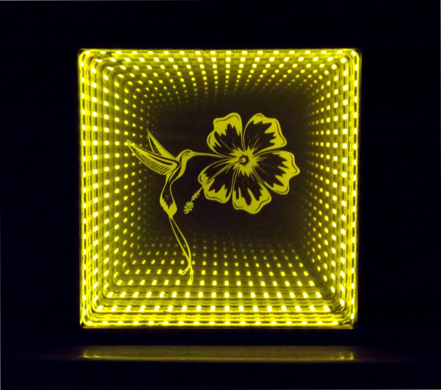 Infinity Mirror With Dual Yellow And Red By