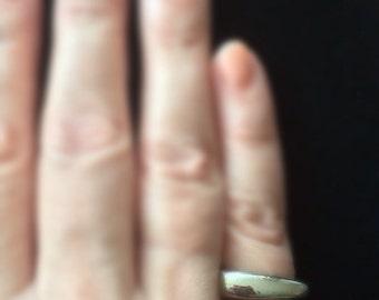 Modernist Ring, Asymmetrical Design, Size 7