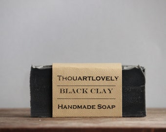 Black Clay Soap| Acne Soap