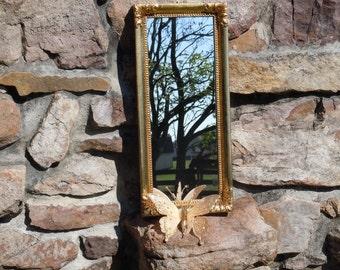 246 - Ornate Mirror -Homco -Elegant Gold -Hollywood Style -Wedding