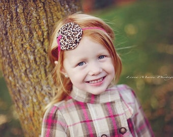 Pink Cheetah Headband,Toddler Cheetah Headband,Fuchsia Baby Headband,Leopard Headband,Tween Headband,Teen Headband,Boutique