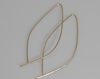 Hoop earrings, gold hoops, ovate hoop earrings
