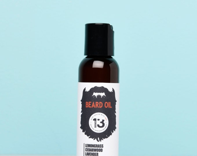 Lemongrass, Cedarwood, Lavender, Sandalwood and Amber Beard Conditioning Oil