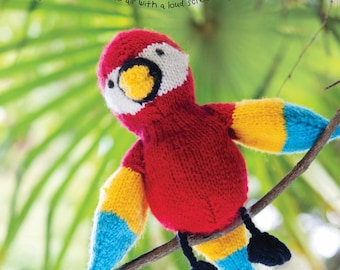 Polly the Parrot Toy Knitting Pattern Download (803780)