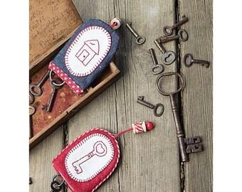 Redwork Key Fob Sewing Pattern Download 803883