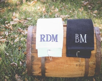 Monogram Golf Towel | Golf Gift | Monogrammed Towel | Grommeted Golf Towel | Tri Fold Golf | Personalized Gift for Men | Stocking Stuffers