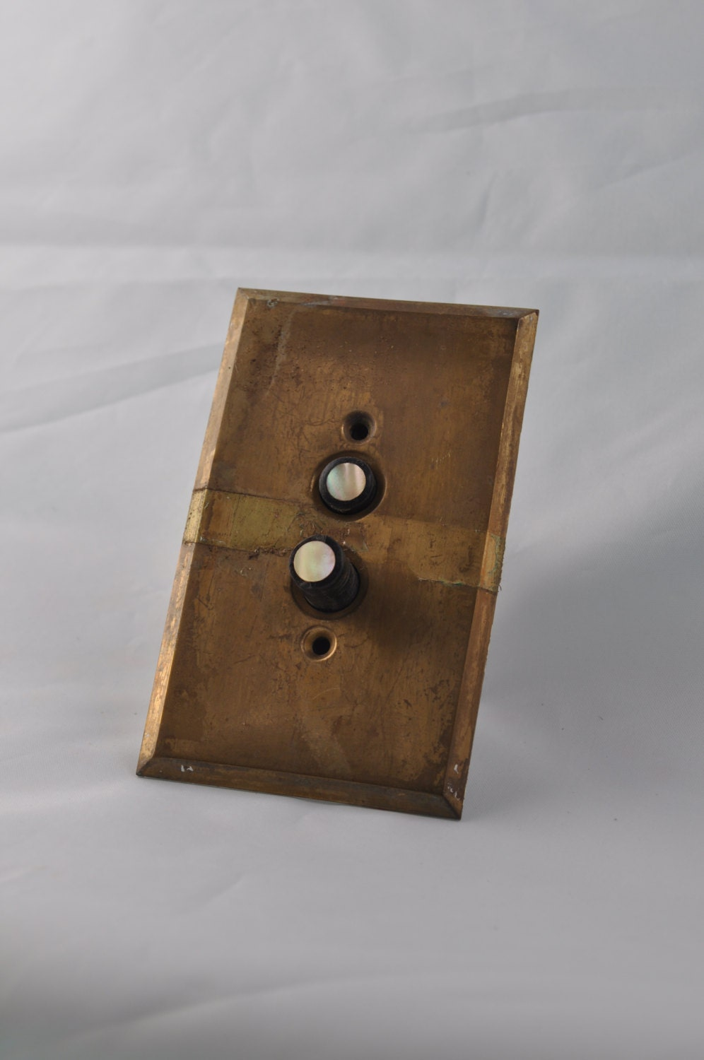 Vintage Push Button Light Switch And Switch Plate Salvage