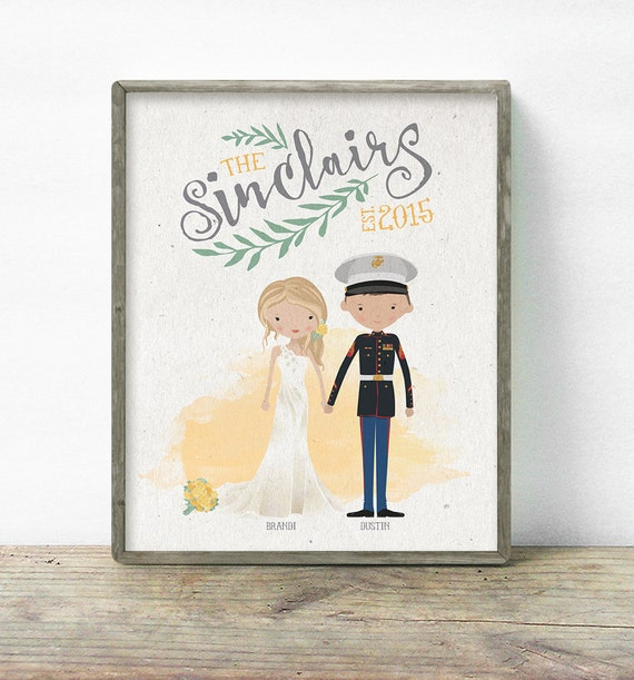 Wedding Gifts For Army Couples : ... Couple Groomsmen Gifts Guest Books Portraits & Frames Wedding Favors