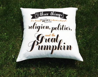Throw Pillows With Dog Sayings : Charlie brown quotes Etsy