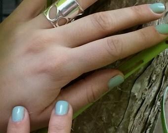 Sterling silver FABI ring.