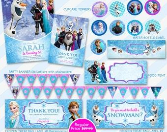 Frozen Birthday, Frozen Invitation, Frozen Elsa Invite, Frozen Party Invite, Princess Elsa Invite, Disney Elsa Invite, Printable Invite
