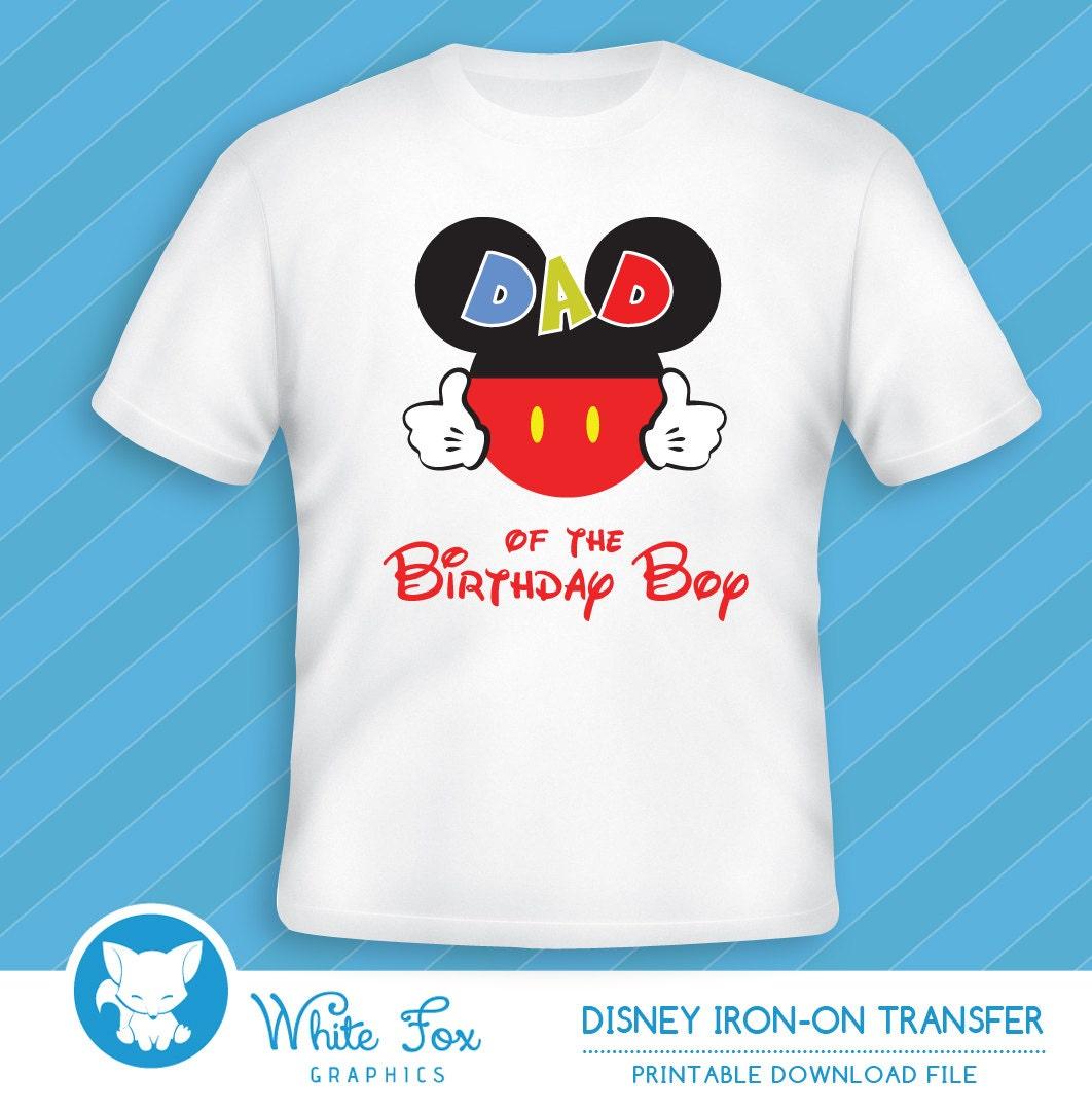 Personalized Disney Dad Of The Birthday Boy/Girl Iron On