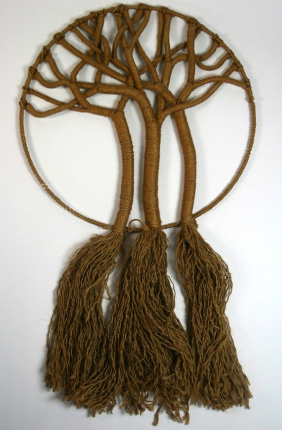 macrame tree of free pattern vintage jute tree of 60s 70s macrame wall hanging unique 6848
