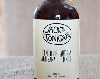 Artisanal Tonic Syrup -1 Bottle of Cocktail Mix