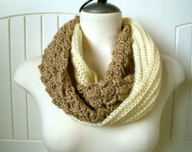 Crochet Scarf Pattern - London Fog Infinity Scarf - Crochet Scarf Pattern with Instructions in Pictures and Writing - Instant Download!