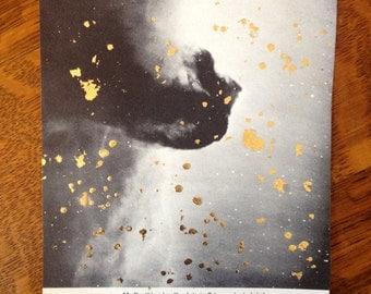 "SALE!** Gold Vintage Astronomy Print -- ""Horsehead Nebula"""