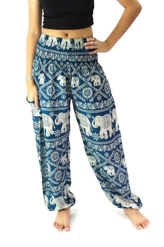 Cool  Women39s Boho Clothing Elephant Pants One Size Green Clothing