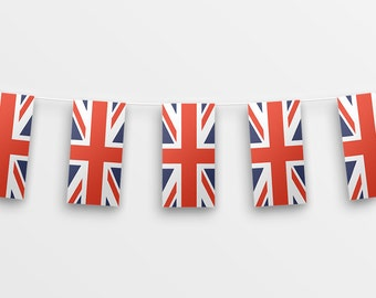 Union Jack Bunting - Printable DIY party bunting - INSTANT DOWNLOAD