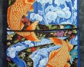 Midori Style Fabric Notebook - Asian Koi