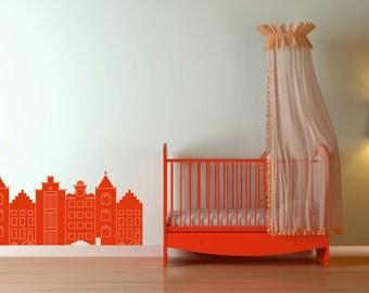 Wall sticker Dutch Cottages