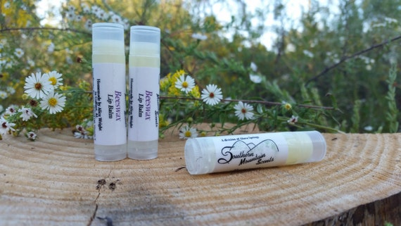 Southern Mountain Scents Natural Homemade Beeswax Lip Balm 3 pack