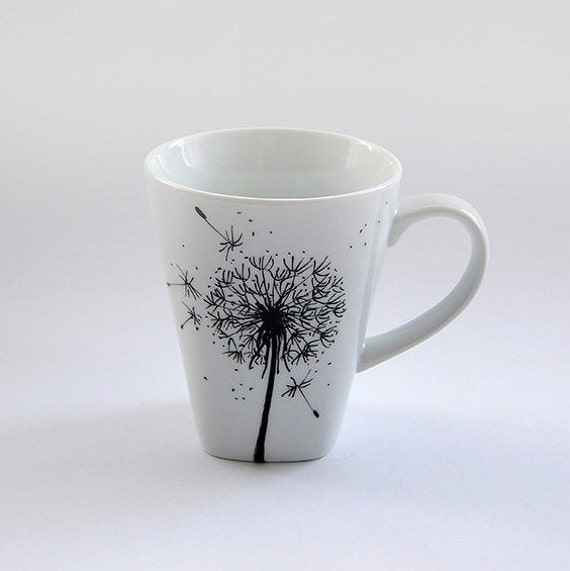 Peint de fleurs tasse personnalisé tasse à la main