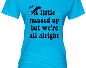 A Little Messed Up Lyrics Womens T-shirt
