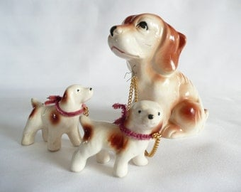 Mother Dog with Puppies Figurine