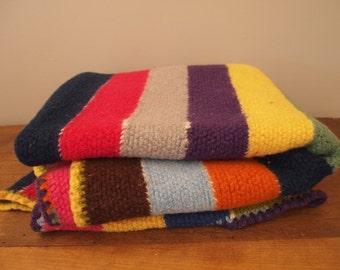 Crochet Afghan Blanket Wool Large Mexican