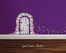 Popular items for princess wall decal on etsy for Princess fairy door
