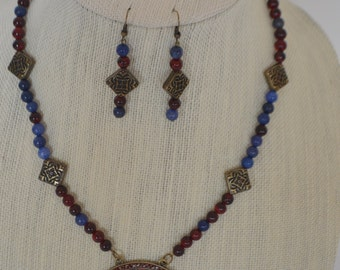 Beautiful Buddha! Necklace and earrings