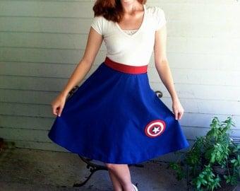 Custom Adorable Captain America Skirt
