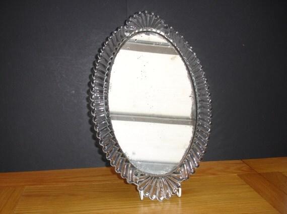 1940s Glass Framed Mirror Vintage Home Decor Vintage Mirror