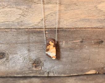 Handmade Australian Boulder Opal Necklace