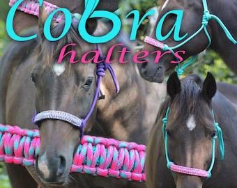 Custom Cobra Rope Halter ---- Write Noseband Color Choice in Order Comments!!!