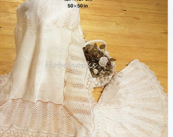 2 Ply Knitting Patterns : 2 PLY BABY SHAWL KNITTING PATTERNS   KNITTING PATTERN