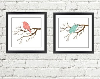Bird wall Art - Bird Wall Deocr - Bird On Branch Print - Bird Art - Nature Art - Nature Wall Art - Nature Wall Decor