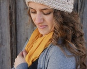 Hand Knitted Ear Warmers with Button