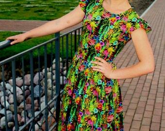 "Dress in Liberty of London ""Tresco'' Tana Lawn  fabric"