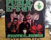 PUBLIC ENEMY: Apocalypse 91... The Enemy Strikes Black Double Album, Record Sleeve Signed by Chuck D