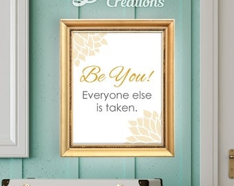 Motivational typography wall art decor, Printable Illustration, inspirational typography quote poster, wall art decor, INSTANT DOWNLOAD,