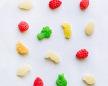 Tropical Candy Mix  | Square Photography Print Wall Art Ledge Poster Kitchen Shelf Decor Tasty Colorful Bright Happy Cheerful Haribo Sweets