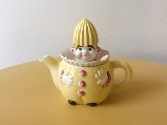 Vintage Clown Reamer Rare Porcelain Antique From The