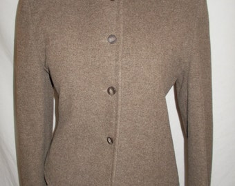 Vintage jacket 1980s by Mondi made in West Germany wool mix Jacket Size medium