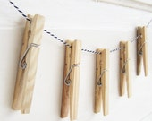 Clothes Pin Garland Picture Hangers - Order with Fabric Garland