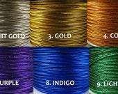 3 meters of nylon METALLIC SOUTACHE braid, 10 colours, pick your color! beautiful metallic colours, shiny soutache, nylon metallic braid