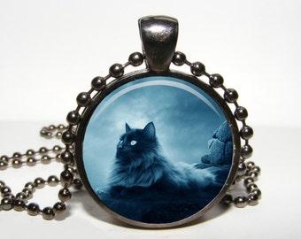 Midnight Black cat Pendant Black cat necklace Black cat jewelry