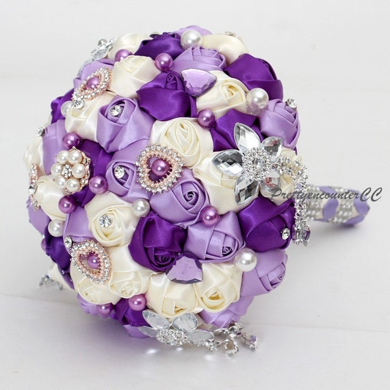 Famoso Bouquet da sposa matrimonio fiori con perline perle gioielli EE21