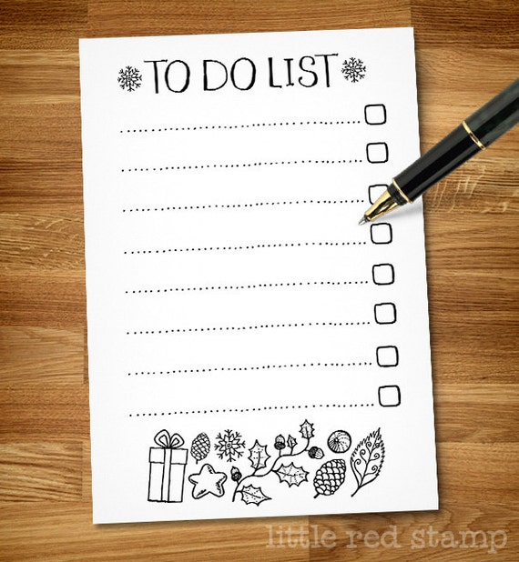to do list a4 pdf